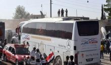 وصول 22 حافلة من أهالي كفريا والفوعة إلى معبر العيس بريف حلب الجنوبي