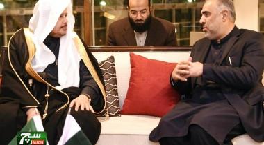 رئيس الشورى يبحث تعزيز العلاقات البرلمانية في باكستان
