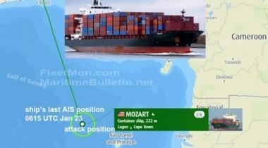 قراصنة يهاجمون سفينة تركية على متنها ۱۹ شخصا قرب نيجيريا