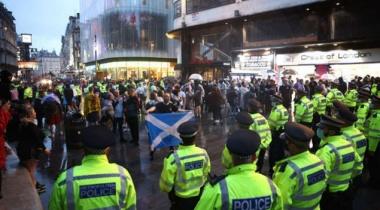 شرطة لندن تعتقل ۳۰ مشجعا بعد مباراة إنجلترا واسكتلندا